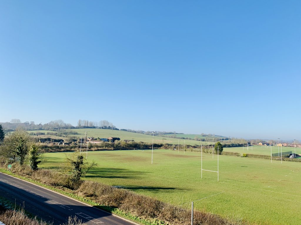 View over Harborough Rugby Club